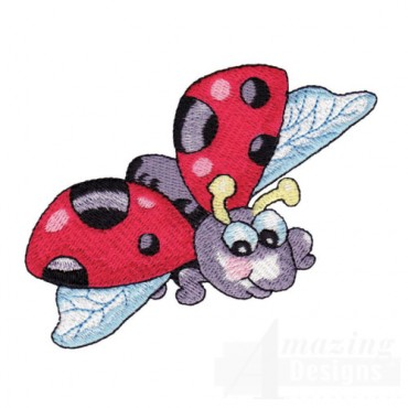 Ladybug in Flight