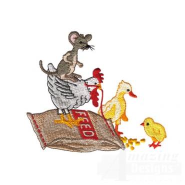 Farm Animals on Feed Bag