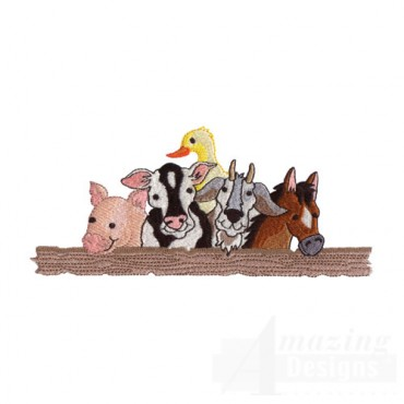 Farm Animals at the Fence