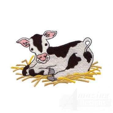 Cow Lying in Straw