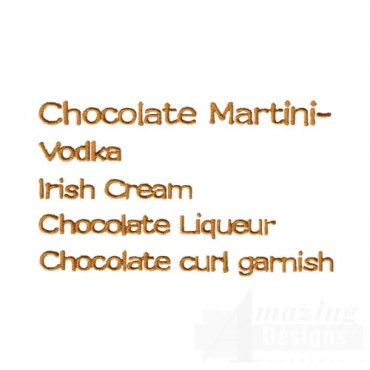 Chocolate Martini Ingredients