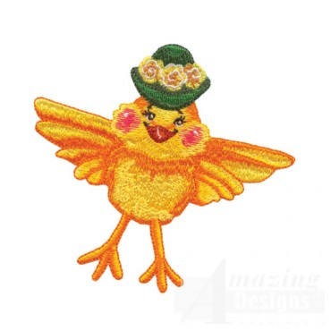 Yellow Bird with Hat