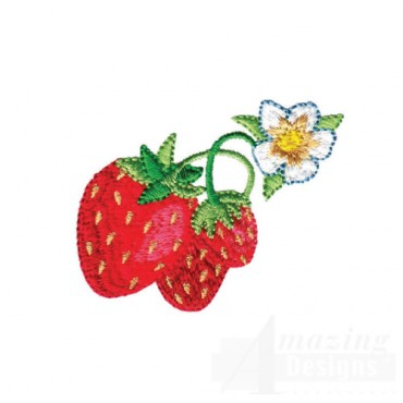 Strawberries With Flower