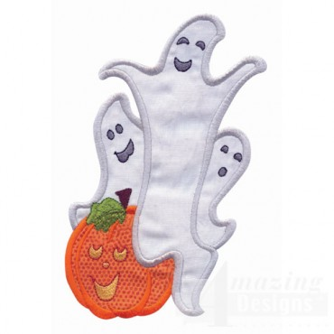 Ghosts And Pumpkin Applique