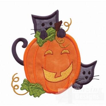 Cat And Pumpkin Applique 2