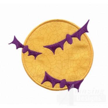 Bats And Moon Applique