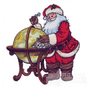 Santa With Globe