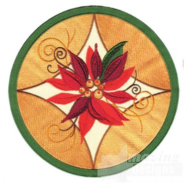 Large Poinsettia Circle
