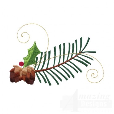 Pine Bough And Swirl