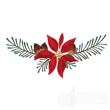 Poinsettia And Pine Boughs