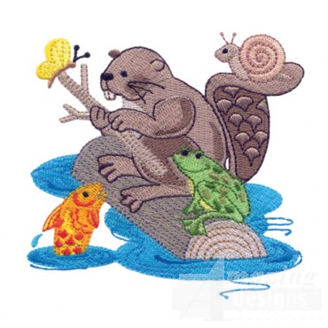 Otter Snail Fish And Frog