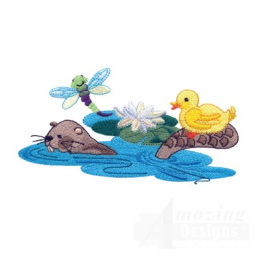 Otter Duck And Dragonfly