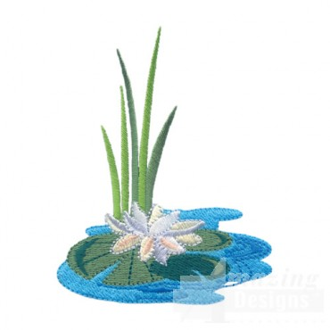 Lily Pad And Grass