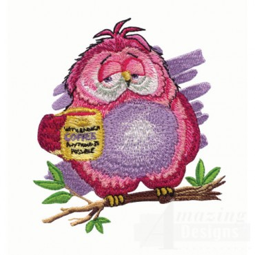 Owl with Coffee