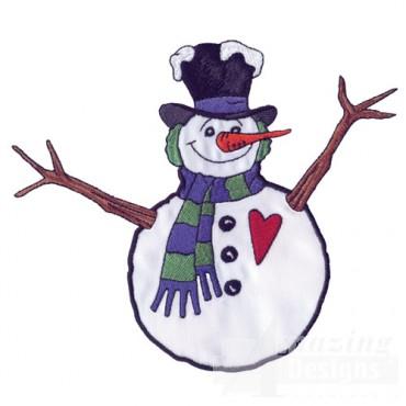 Snowman Applique 1