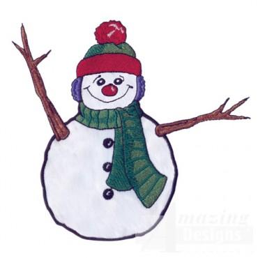 Snowman Applique 2