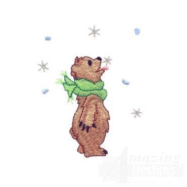 Bear Eating Snow