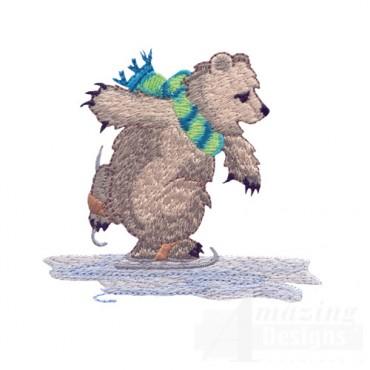 Ice Skating Bear 4