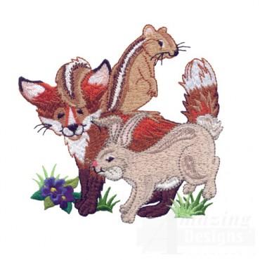 Chipmunk, Fox, Rabbit