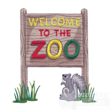 Welcome To The Zoo Sign