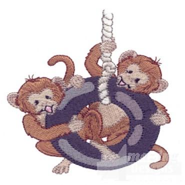 Monkeys On Swing
