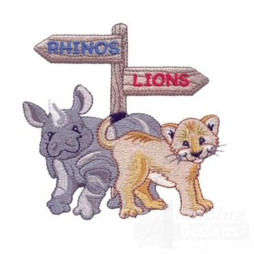 Rhino And Lion