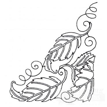 Leaf Quilt Corner 4 Embroidery Design