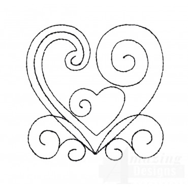 Sweet Dreams Outline 1 Embroidery Design