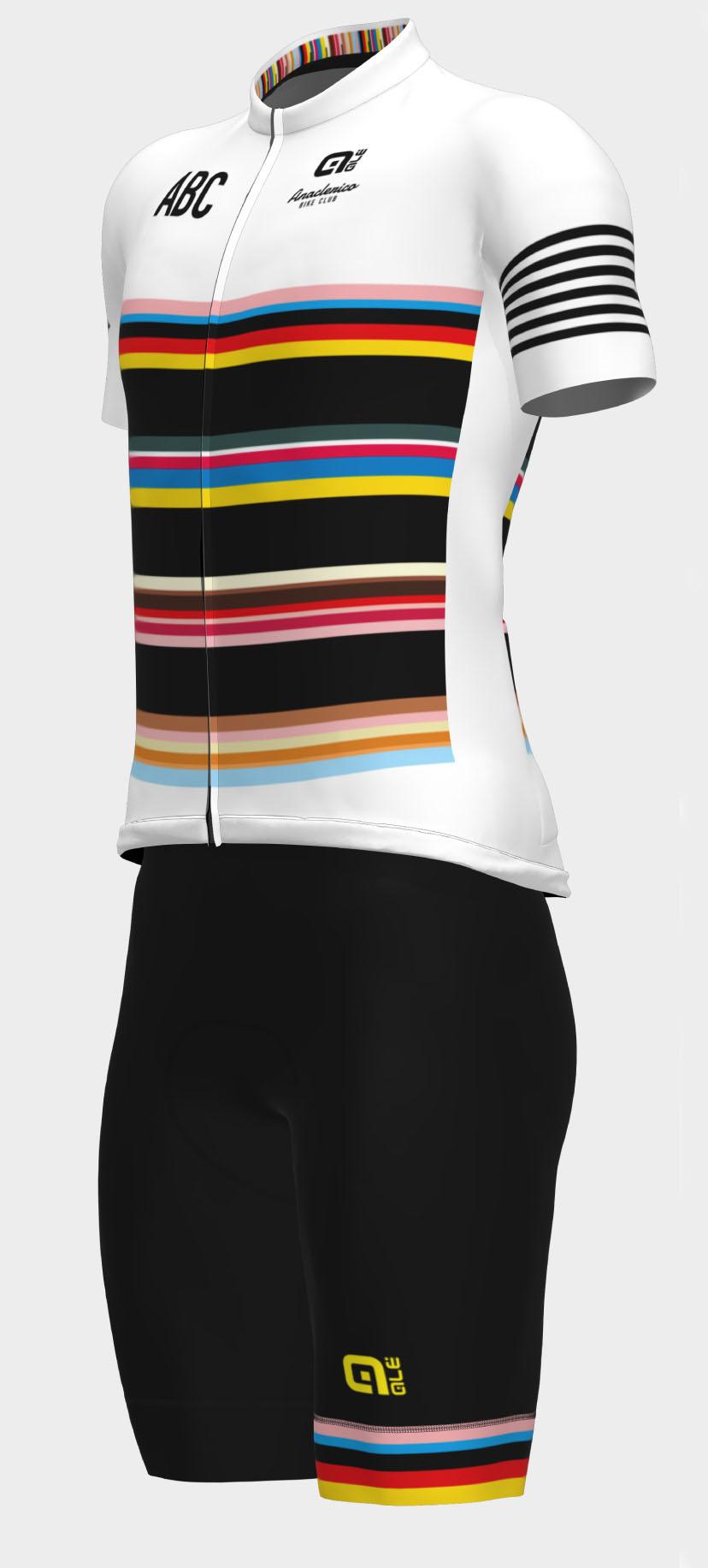 Completo da Ciclismo ABC White Stripes Ale