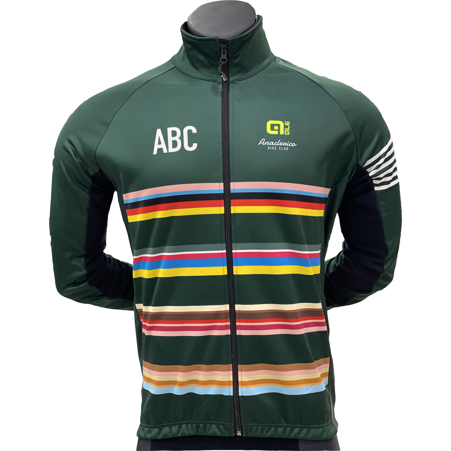 Completo da Ciclismo ABC Dark Green Stripes Winter Ale
