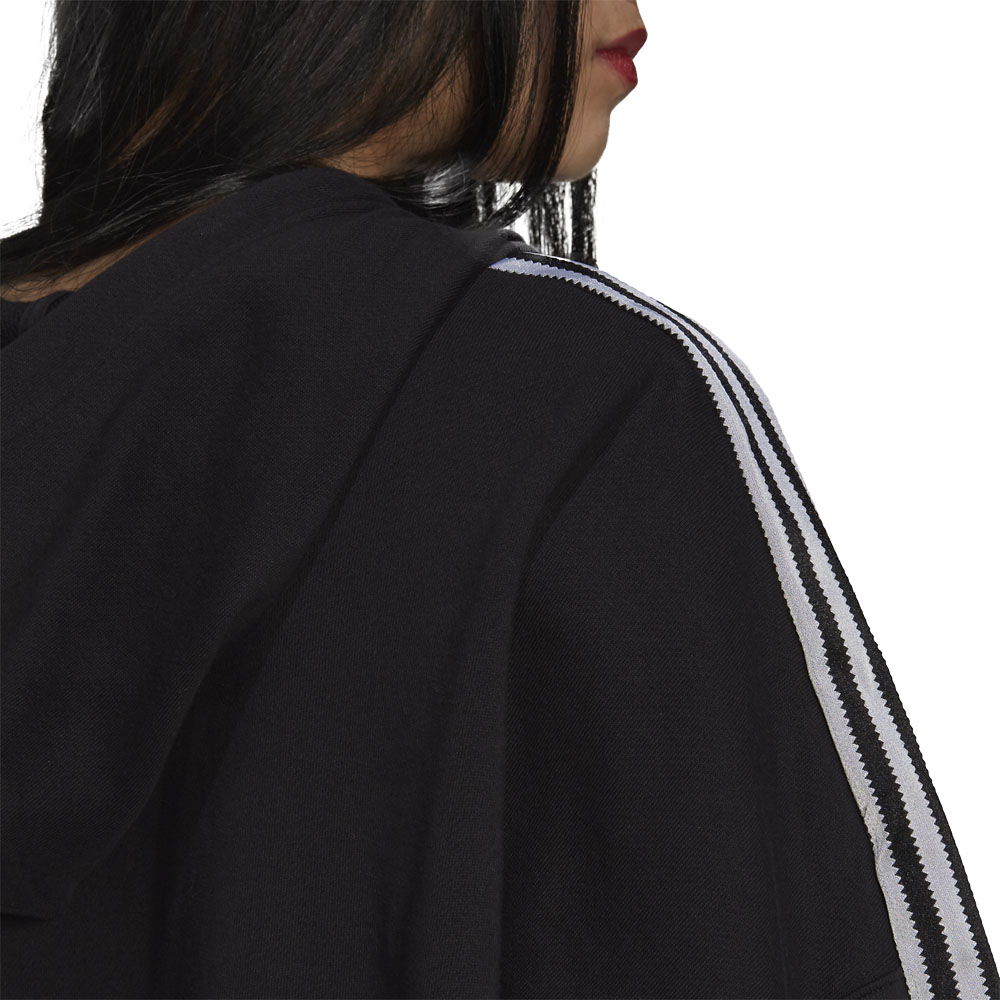 Felpa Donna Adidas Hoodie Adicolor Classics Satin Tape Cropped ADIDAS ORIGINALS   92   H37812-