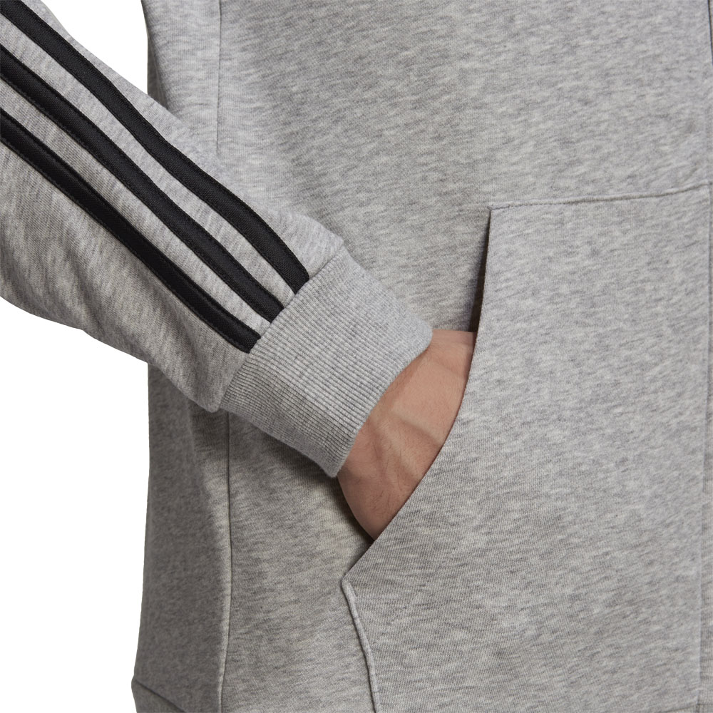 Felpa Adidas  con Cappuccio Essentials French Terry 3-Stripes Full-Zip ADIDAS PERFORMANCE   92   GK9034-