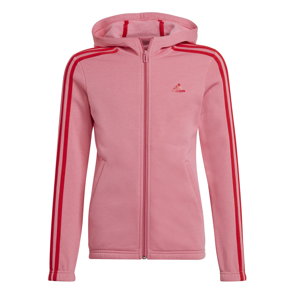 Felpa con cappuccio bambina/ragazza Adidas Essentials 3-Stripes Full-Zip ADIDAS PERFORMANCE   92   GS2197-