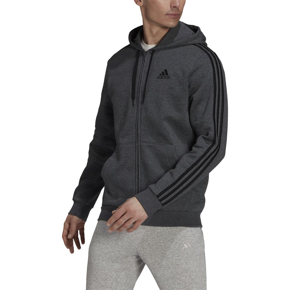Felpa con cappuccio Essentials Fleece 3-Stripes Full-Zip ADIDAS PERFORMANCE | 92 | HB0042-