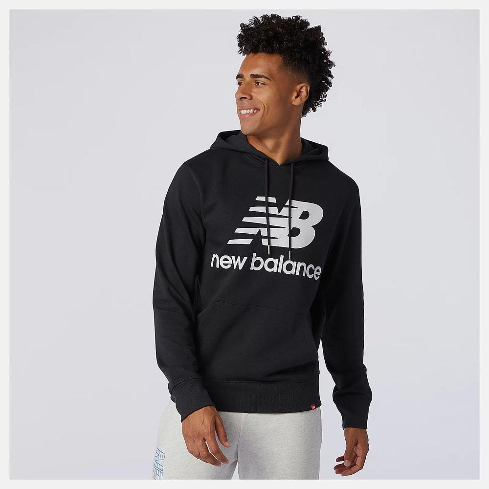 Felpa New Balance Essentials Stacked Logo Po Hoodie NEW BALANCE | 92 | MT03558BK