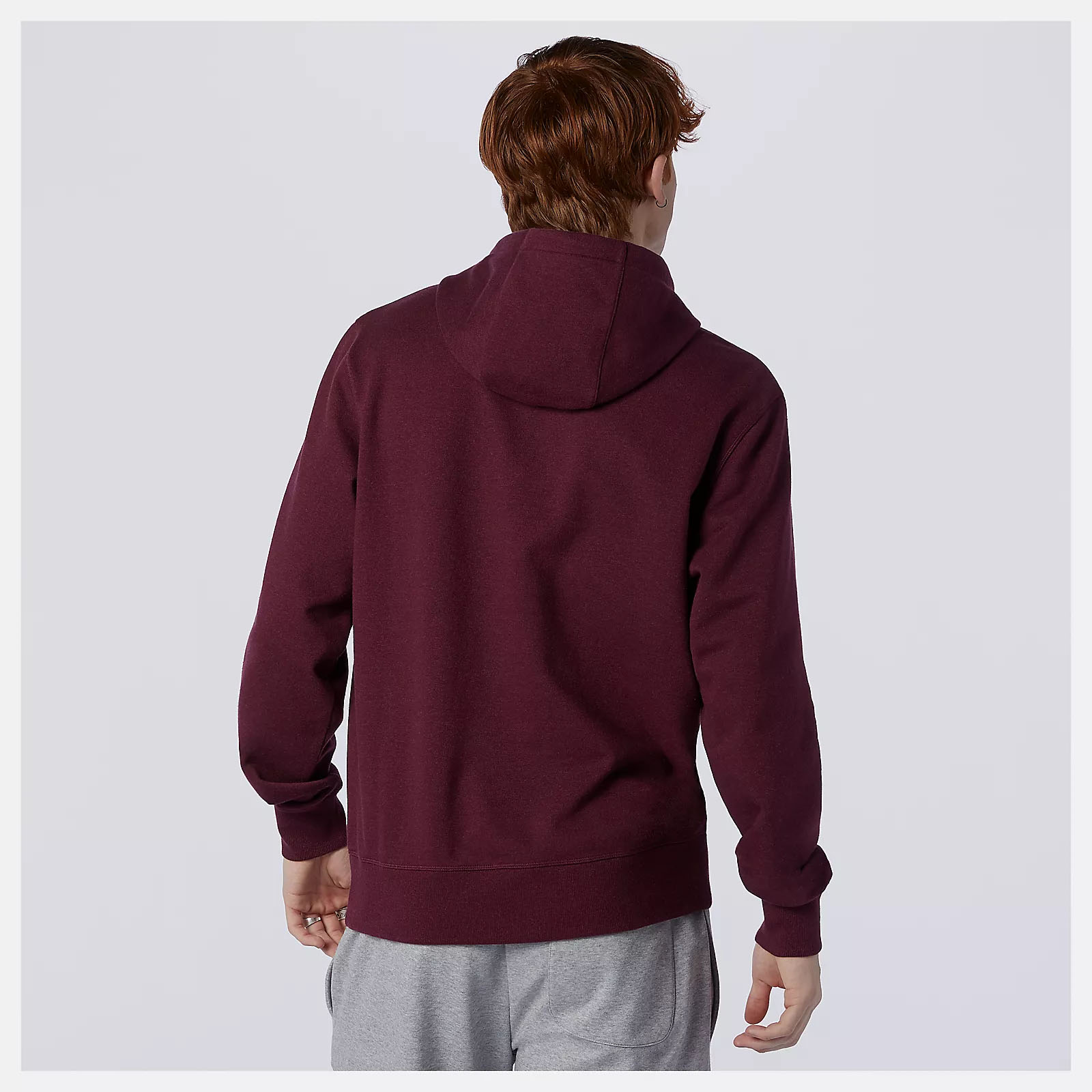 Felpa New Balance Essentials Stacked Logo Po Hoodie NEW BALANCE | 92 | MT03558GTH