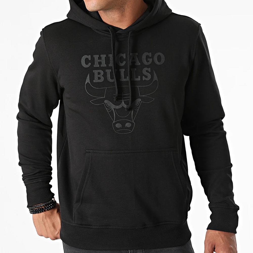 Felpa New Era con cappuccio Team Logo dei Chicago Bulls NEW ERA | 92 | 11546180BLKBLK