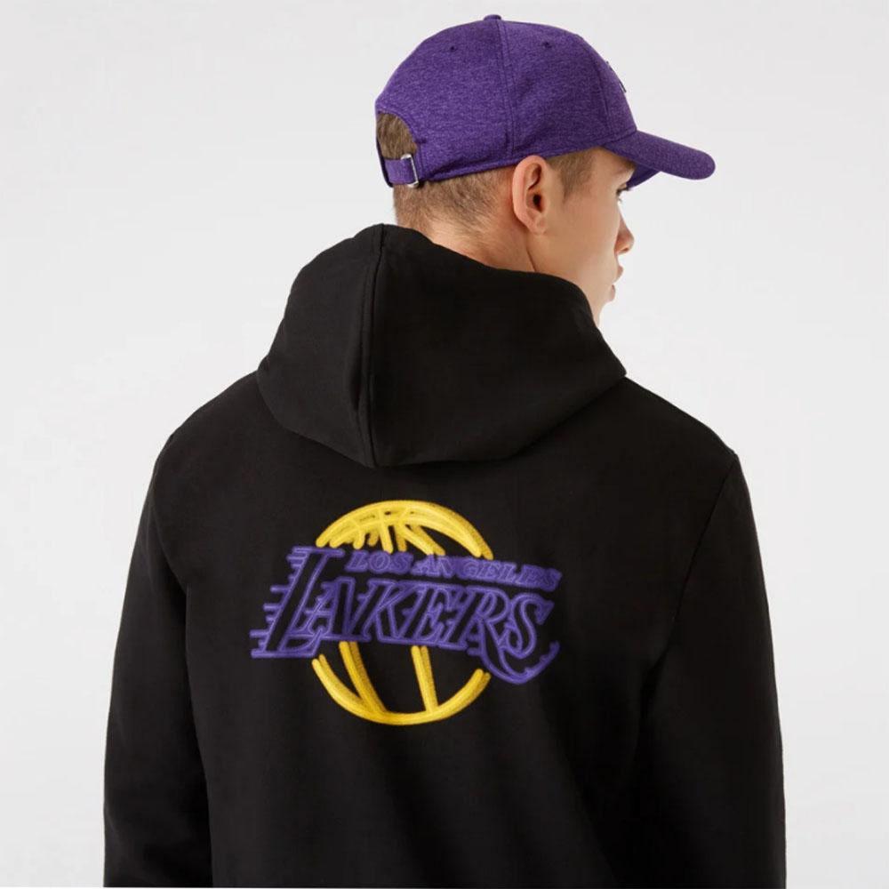 New Era Felpa con cappuccio nera Neon La Lakers NEW ERA   92   12827215BLK