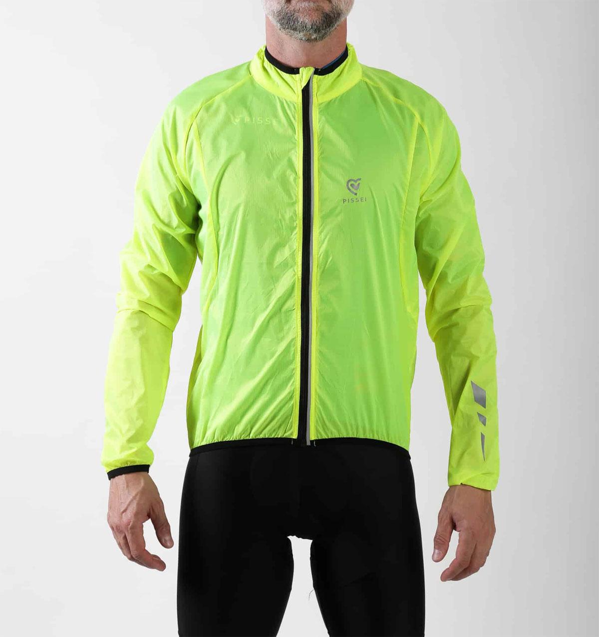 Mantellina Antivento da Ciclismo Pissei Alito PISSEI | 270000071 | ALITO17GIALLOFLUO