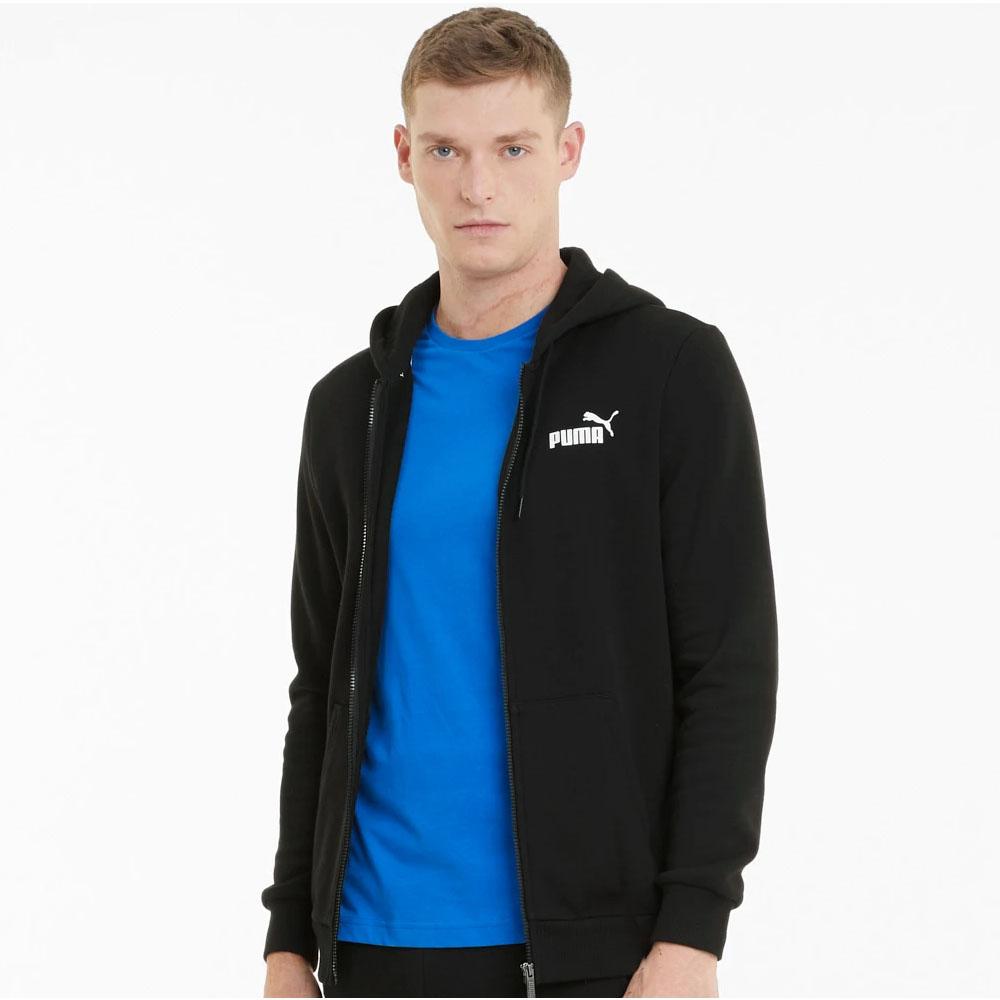 Felpa puma con cappuccio con zip integrale e logo Essentials PUMA   92   586702001