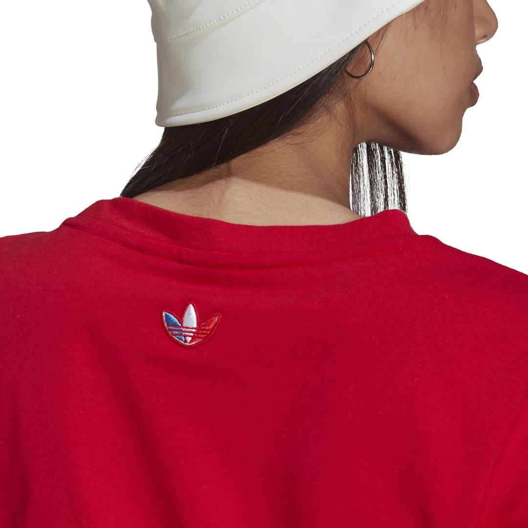 T-Shirt Adicolor Primeblue Tricolor Cropped ADIDAS ORIGINALS   -89515098   GN2935-