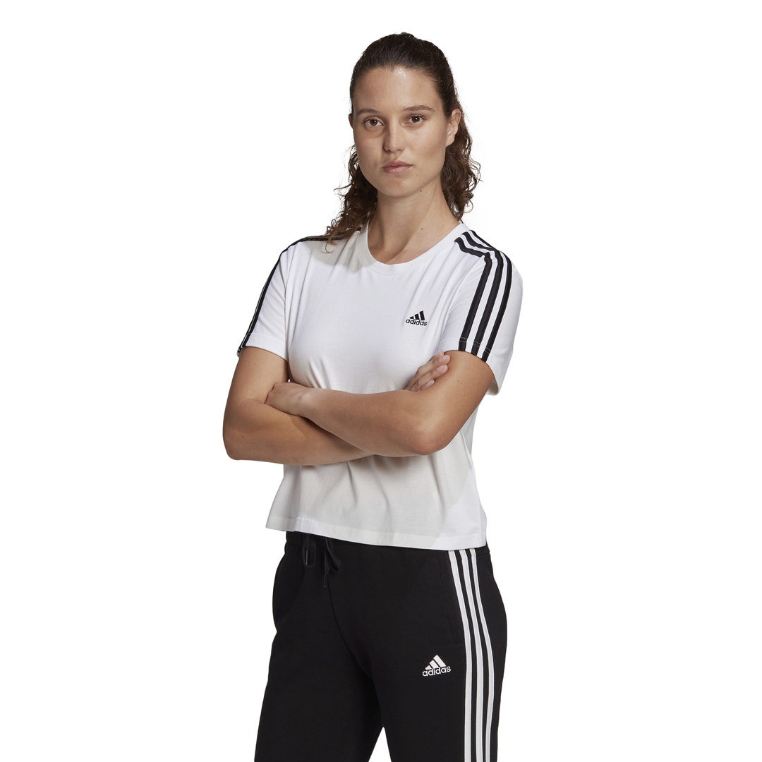 T-shirt adidas Essentials Loose 3-Stripes Cropped ADIDAS PERFORMANCE   -89515098   GL0778-