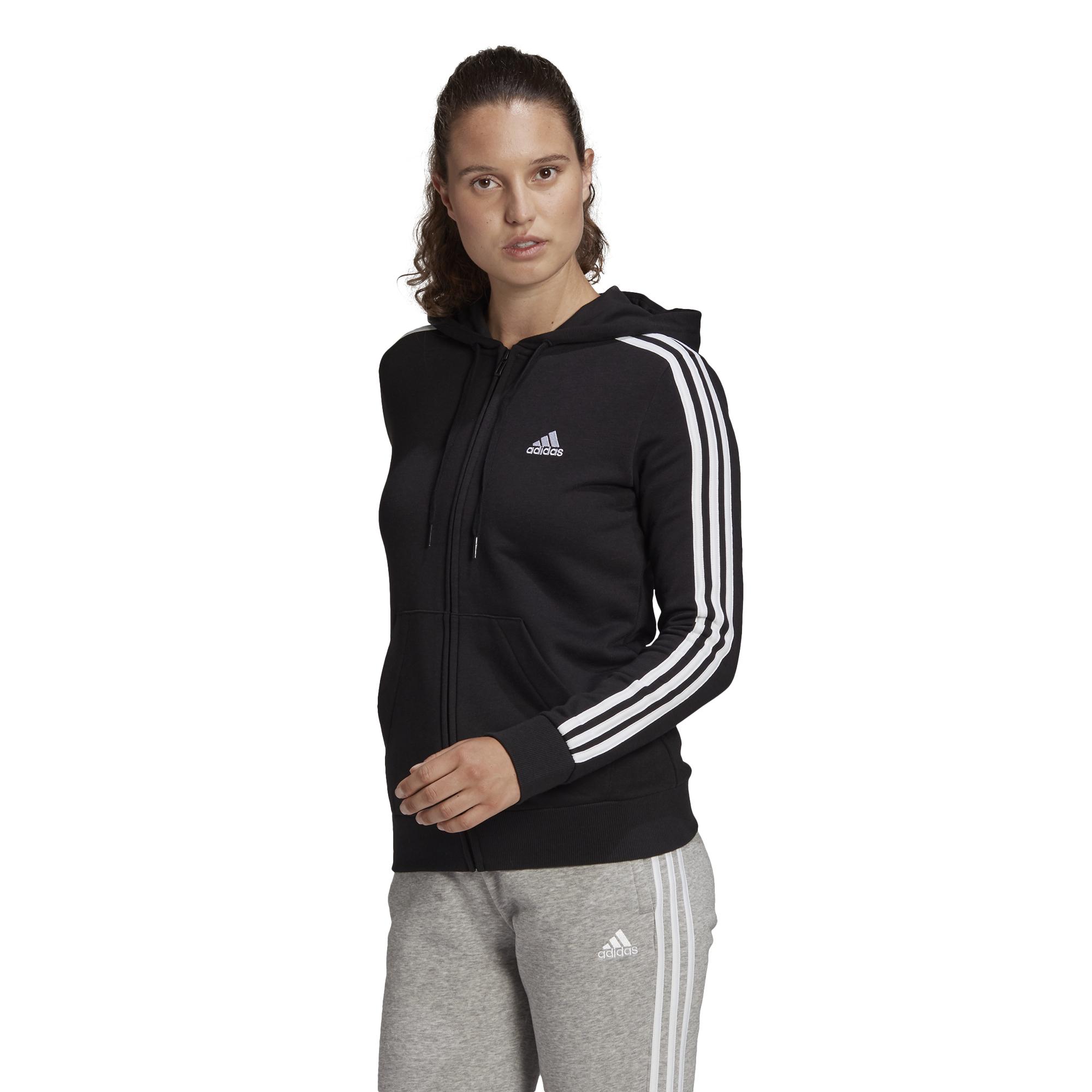 Felpa adidas con cappuccio Essentials French Terry 3-Stripes Full-Zip ADIDAS PERFORMANCE | 92 | GL0792-