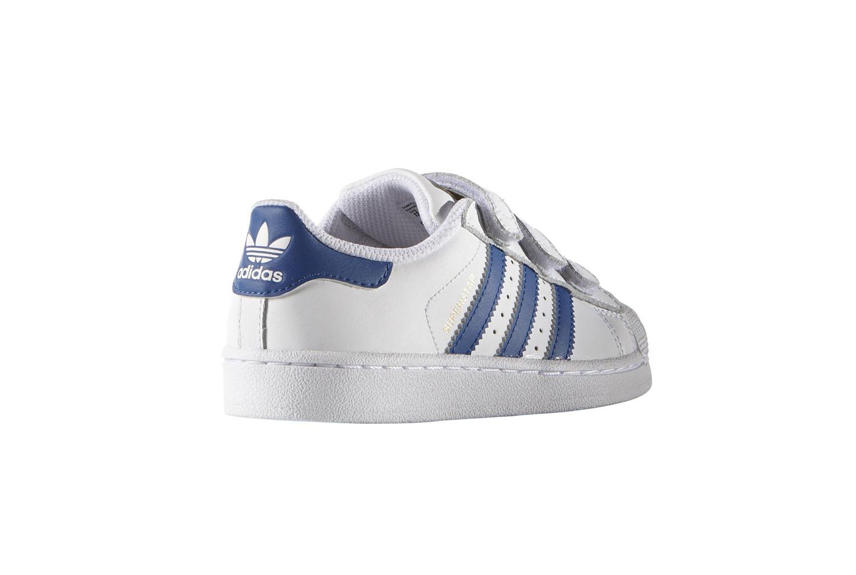 newest a888d 4a0ab Adidas Superstar Foundation CF I Scarpe Bambino Bianche Pelle Strappi  B23637. dettaglio 1 dettaglio 1 dettaglio 1 .