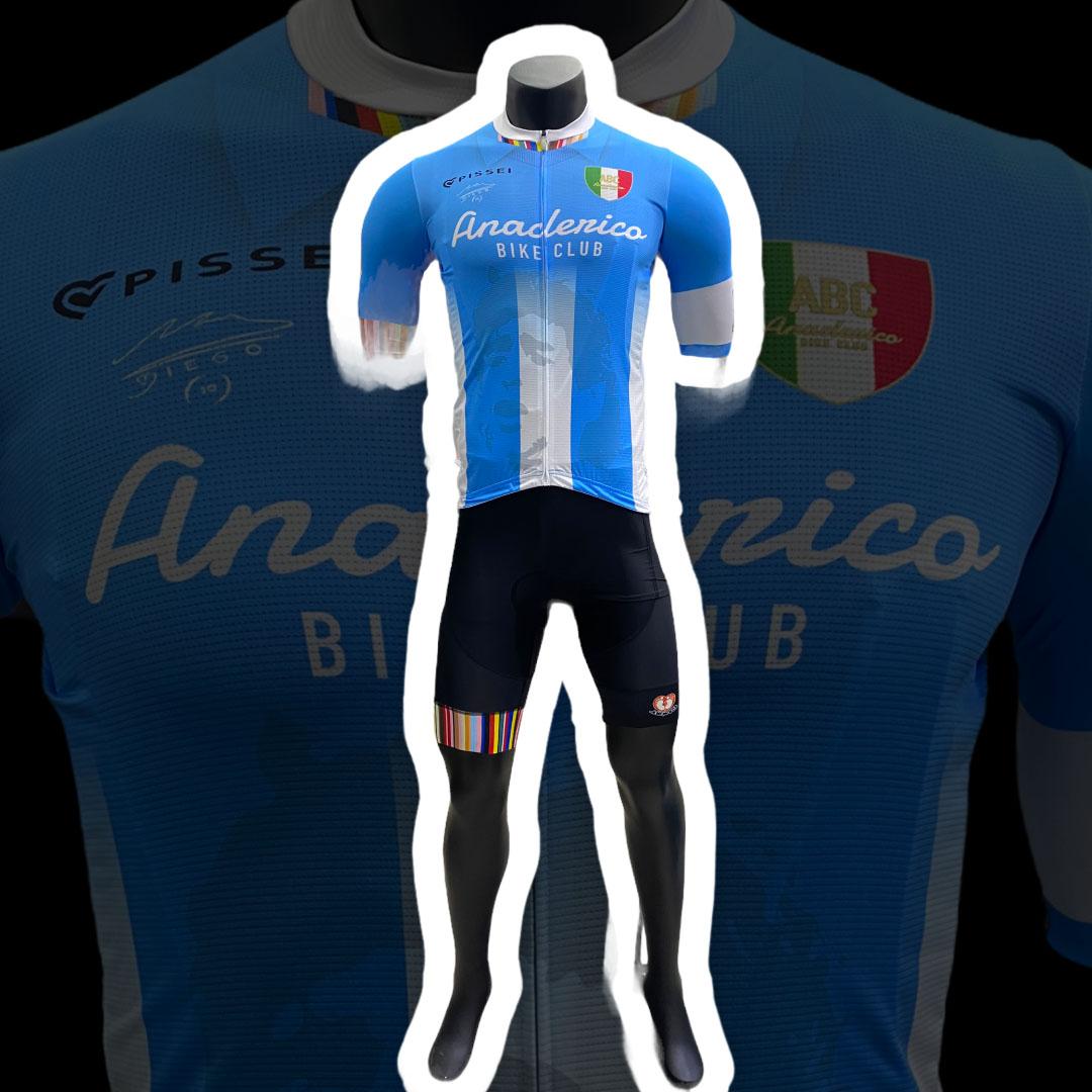 Completo da Ciclismo ABC Anaclerico Sport Bike Club D10S - In bici per la T.I.N. by Pissei ABC ANACLERICO SPORT BYKE CLUB   270000035   MARADONAPISSEICOMPLETO-