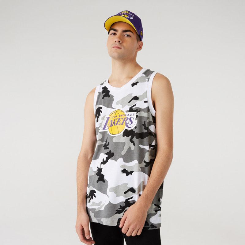 Canotta LA Lakers Camo Print New Era NEW ERA   681207635   12720138URC