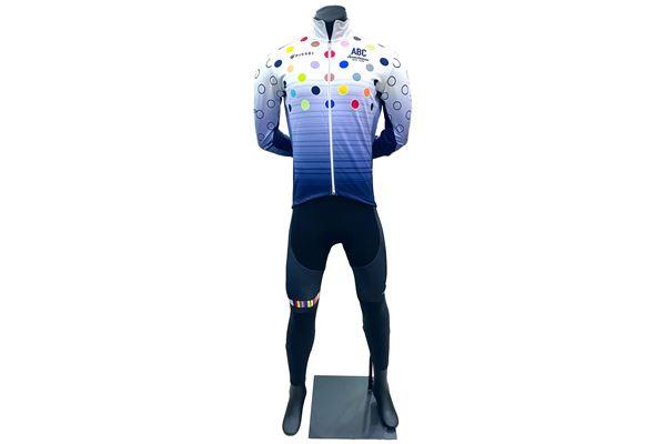 Completo Invernale da Ciclismo ABC Pissei Pois Cervino Easy Fit ABC ANACLERICO SPORT BYKE CLUB | 270000035 | POISWCERVINO-