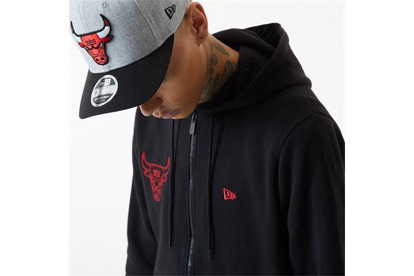 Felpa con cappuccio Chicago Bulls Chain Stitch New Era NEW ERA | 92 | 12553348BLK