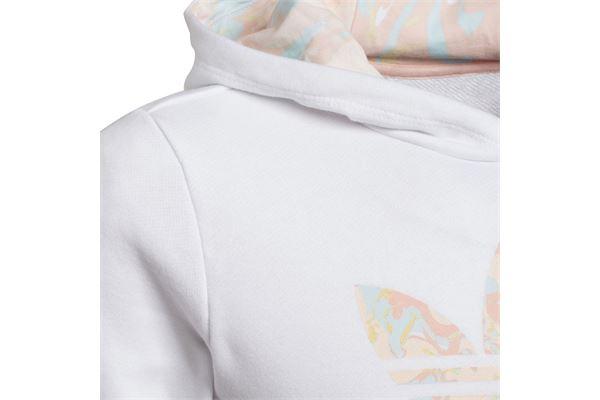 Felpa da bambina/ragazza Adidas Marble Logo Graphic Print ADIDAS ORIGINALS | 92 | H22628-