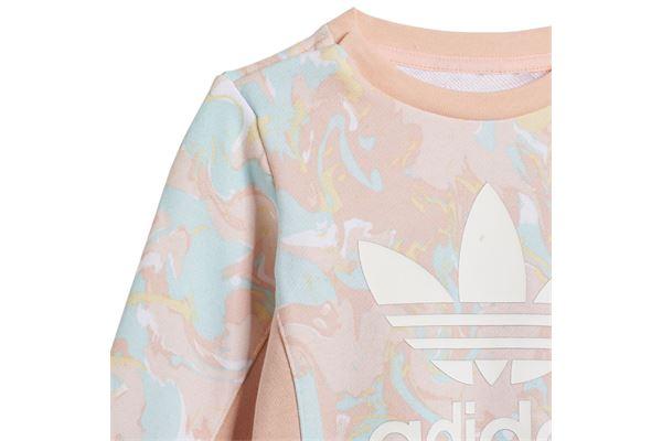 Tuta per neonate Adidas Allover Print Marble Crew ADIDAS ORIGINALS   270000019   H22632-